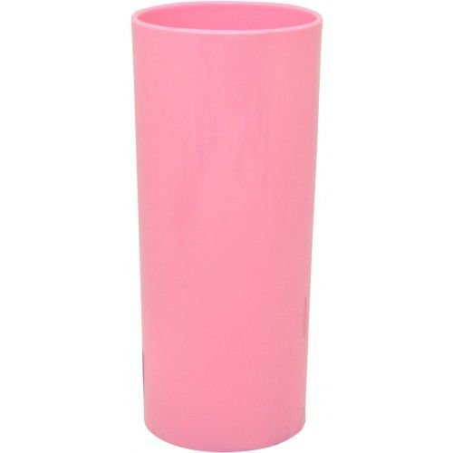 Copo Acrílico Long Drink - 320ml -  Rosa Bebê