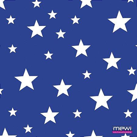 TNT Estampado - Estrela Branca fundo Azul - 05 Metros
