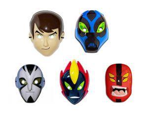 Kit Máscaras Plástica - Ben 10 - 5 Unidades
