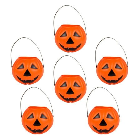 Caldeirão Baldinho de Abobora Halloween - 06 Unidades