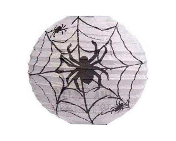 Lanterna de Papel Halloween - Aranha