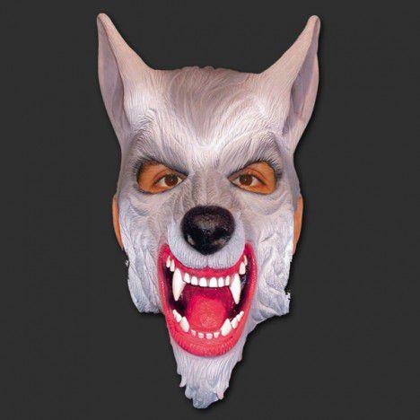 Máscara Latéx Halloween - Lobo Mau