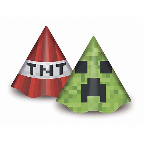 Chapéu de Aniversário -  Mini Pixel - 08 unidades