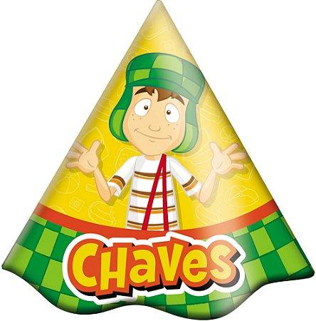 Chapéu  de Aniversário - Chaves - 16 unidades