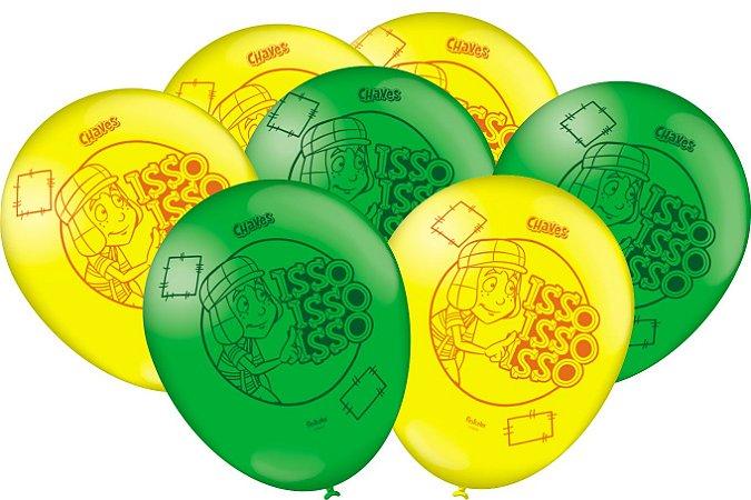 Balão Latéx - Turma do Chaves - 50 unidades