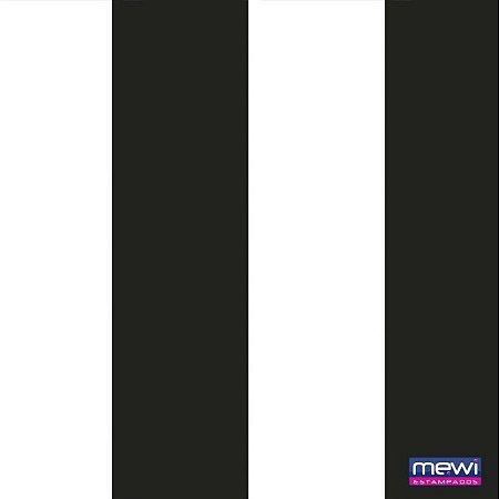 Tnt Estampado - Time Preto Branco - 10 metros