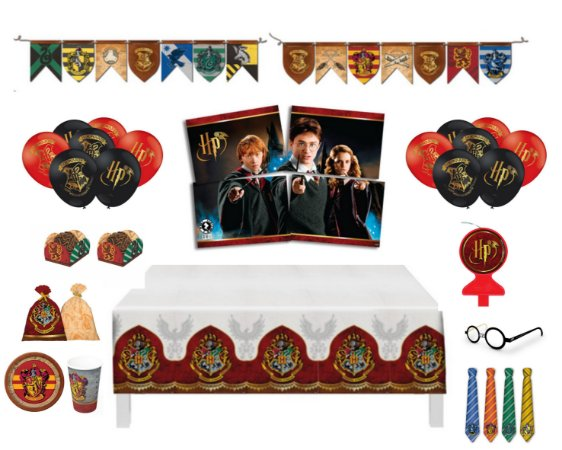 Kit Decoração Festa Completa P/ 16 Crianças - Harry Potter