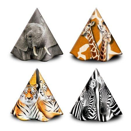 Chapéu  de Aniversário - Mundo Animal - 16 unidades
