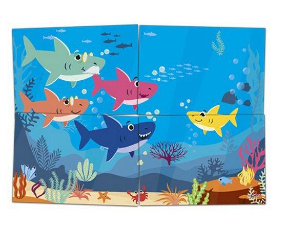 Painel 4 Folhas - Family Shark