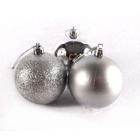 Bola de Natal N°6 - Sortido - Prata