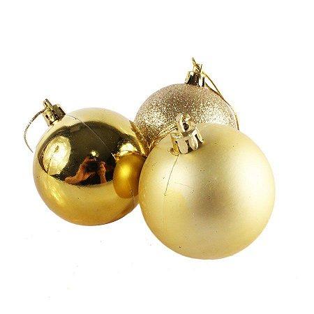 Bola de Natal N°6 - Sortido - Dourada