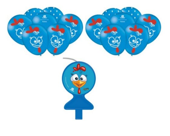 Galinha Pintadinha * Decoração Festa * Vela Bolo + 25 Balões