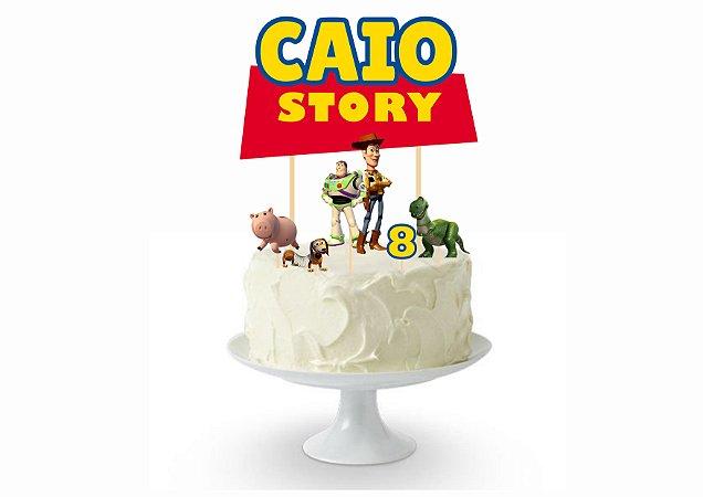 Topo de Bolo - Personalizado - Toy Story