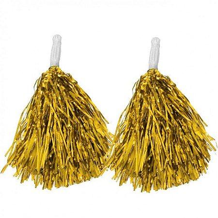 Pompom Metalizado - Dourado