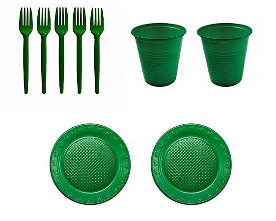 Kit Descartável - Verde - 150 Itens