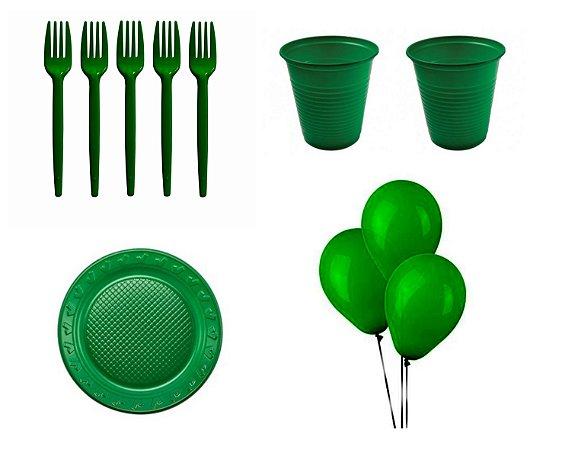 Kit Descartável - Verde - 200 Itens