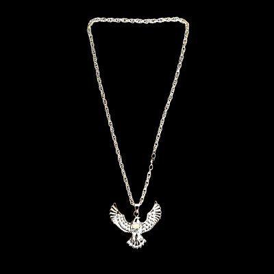 Cordão Ostentação - Águia - Prata - 31cm