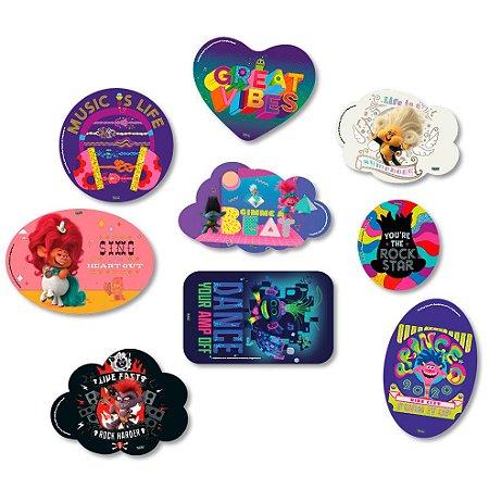 Kit Placas Decorativas Trolls 2 09 unidades