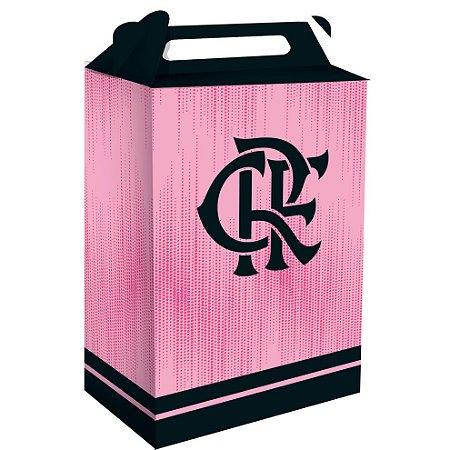 Caixa Surpresa Emblema Festa Flamengo Rosa - 16 unidades