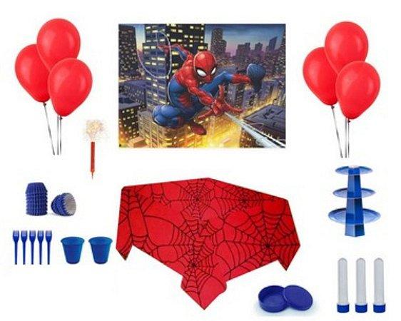 Kit Decoração de Festa Especial - Homem-Aranha