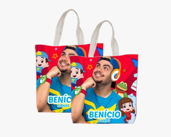10 Eco Bag Personalizada - Luccas Neto - 25 x 30