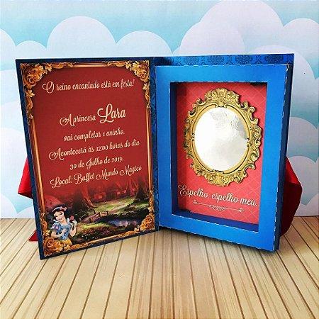 Convite Caixa livro luxo - Branca de Neve - 06 und