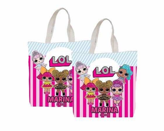 10 Eco Bag Personalizada - 25 x 30 - LOL