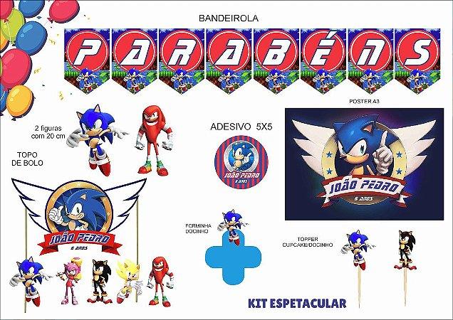 Kit Festa Espetacular Personalizado - Sonic
