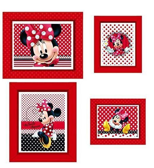 Quadro decorativo - Minnie vermelha
