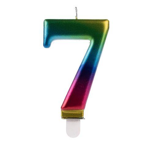 Vela Numeral Wave - Nº 7