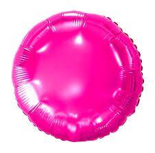 Balão Metalizado Redondo Pink- 45 cm