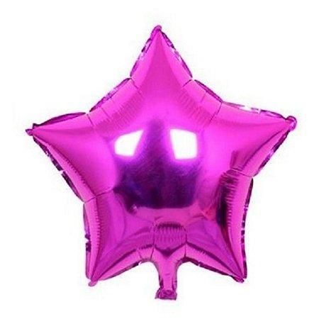 Balão Metalizado  - Estrela Pink - 45cm