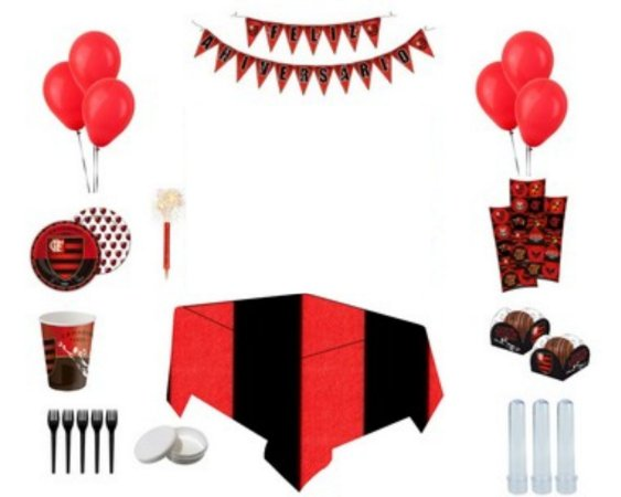 Kit Decoração de Festa Especial - Flamengo