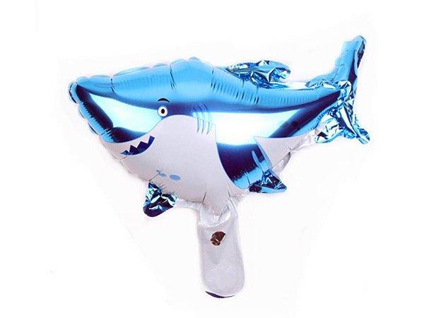 Balão Metalizado Tubarão - 35 cm
