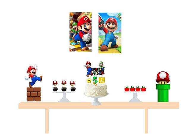Kit Decoração de Festa - Mário Bros