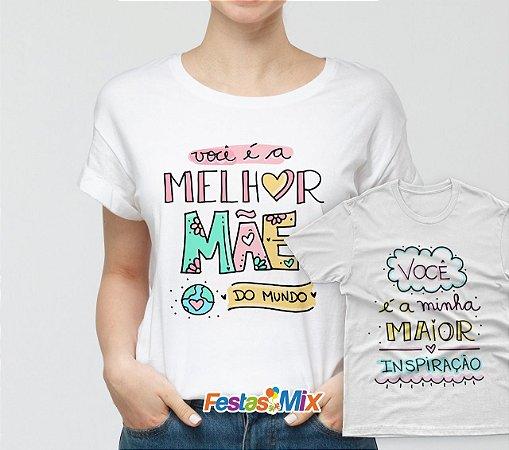 Kit Dia das Mães - Camisa + Camisa Infantil - Melhor Mãe 2