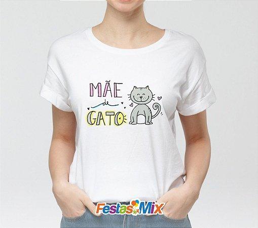 Camisa Personalizada - Mãe de um Gato