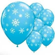 Balão N° 10- Flocos de Neve - 25 unidades
