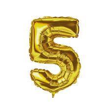Balão Numero 5 Metalizado 45cm