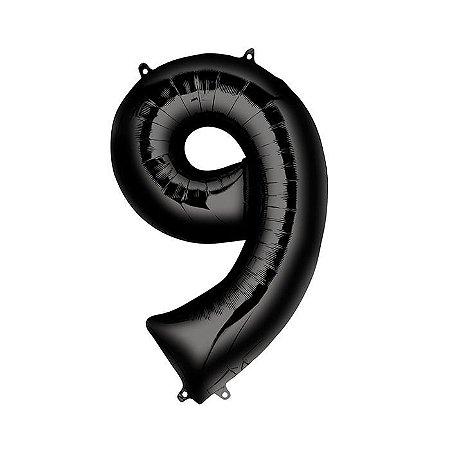 Balão Metalizado 70cm - Nº 9
