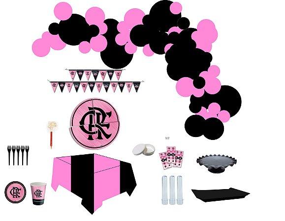 Kit Decoração de Festa Master - Flamengo Rosa