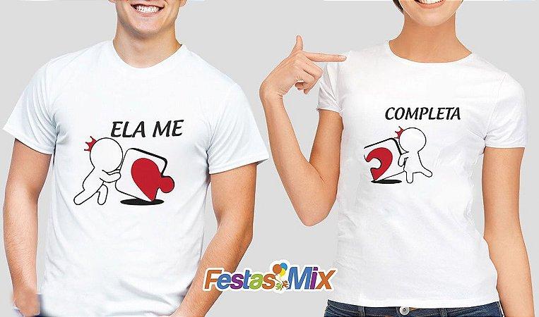 Kit Camisa Dia dos Namorados - Ela me Completa