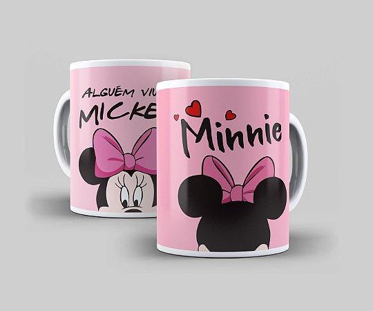Caneca Cerâmica Coleção Disney  - Minnie Rosa