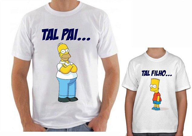 Kit Camisa Tal Pai x Tal Filho - Simpson