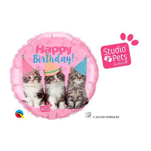 Balão Metalizado  Pets - Cats- 18 Polegadas