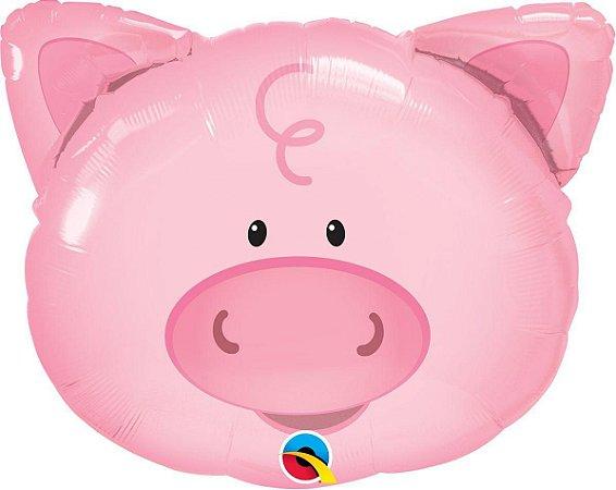 Balão Metalizado Porco  Brincalhão