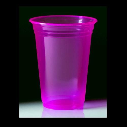 Copo Descartável  Premium 300 ml - Rosa Neon