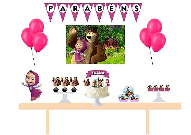Kit Festa Espetacular Personalizado - Masha e o Urso