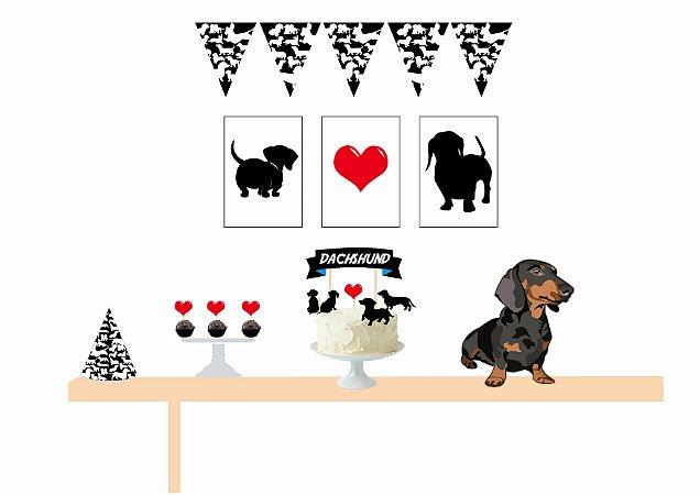 Kit Personalizado Festa para Cachorro - Dachshund