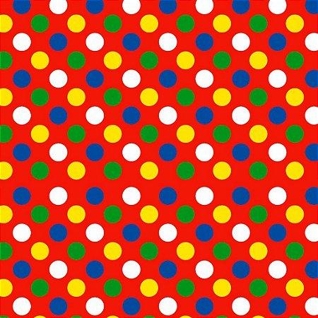 Tnt Estampado - Bolinhas Clown - 01 Metro